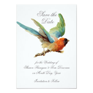 Bird Collection-Save the Date 5x7 Paper Invitation Card