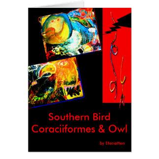 Bird Coraciiformes & Owl Card