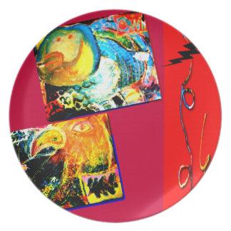 Bird Coraciiformes & Owl illustration Plate