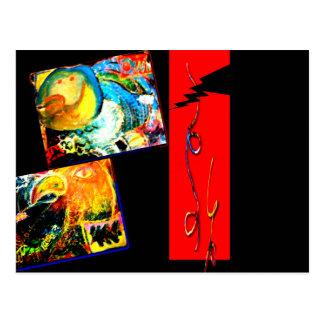 Bird Coraciiformes & Owl Postcard