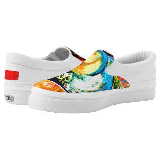 Bird Coraciiformes & Owl Slip-On Sneakers