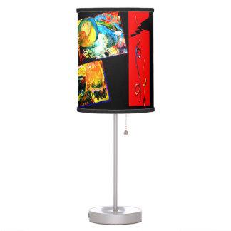 Bird Coraciiformes & Owl Table Lamp