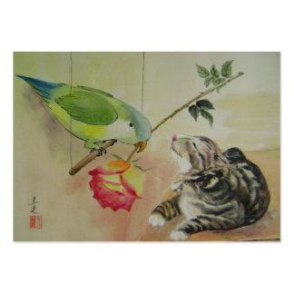 bird courtship business cards