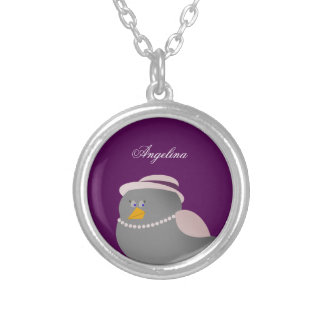 Bird Cute Retro Personalized Metal Necklace
