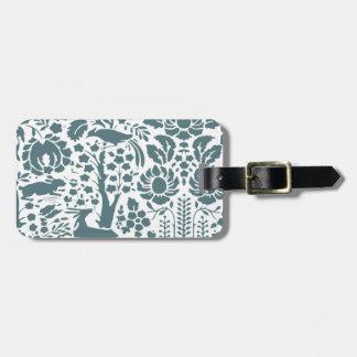 Bird, Deer, tree folk pattern Bag Tag