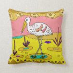 Bird Design Accent Pillow
