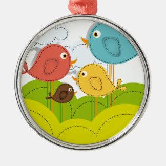 bird design metal ornament