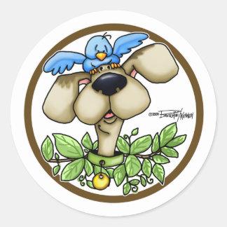 Bird Dog - Circle Classic Round Sticker