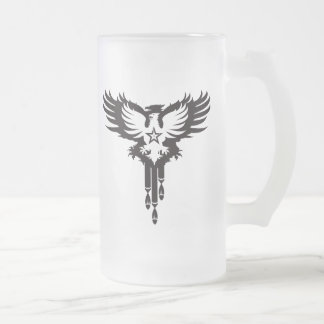 Bird Dropping Bombs - K Frosted Glass Beer Mug