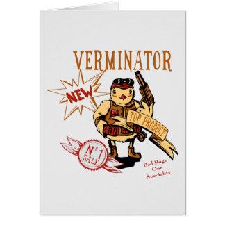 Bird Exterminator ~ Pest Extermination Funny Gift Greeting Card