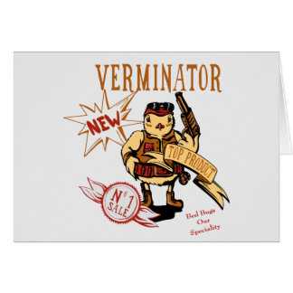 Bird Exterminator ~ Pest Extermination Funny Gift Stationery Note Card