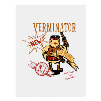Bird Exterminator ~ Pest Extermination Funny Gift Postcard
