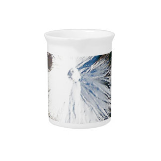 bird eye view of mount fuji drink pitcher