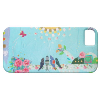 Bird Family Art Collage iPhone 5 Cover