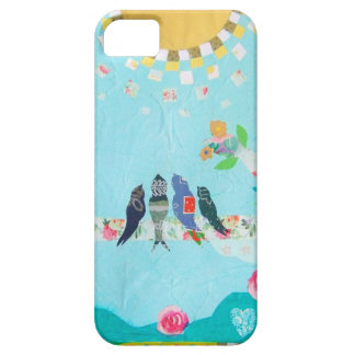 Bird Family Art Collage iPhone 5 Case