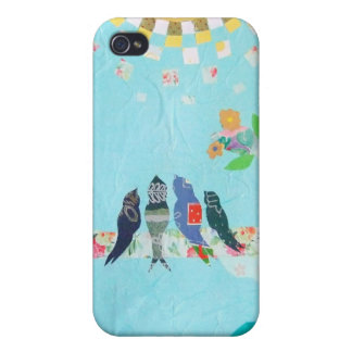 Bird Family Art Collage iPhone 4 Cases