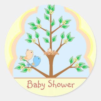 Bird Family Baby Shower Sticker