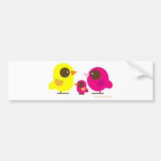 bird family bumper sticker
