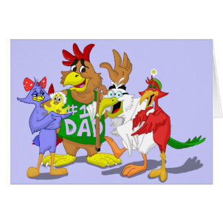 Bird Family Cartoon Card