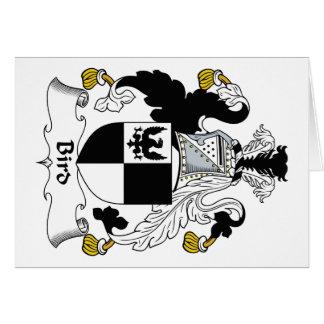 Bird Family Crest Card