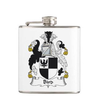 Bird Family Crest Flask