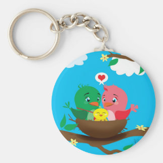 Bird Family Key Chain