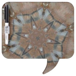 Bird Feather Tee Pee Kaleidoscope Mandala Dry-Erase Board