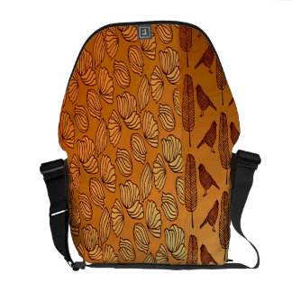 Bird Feathers on the Beach Messenger Bags