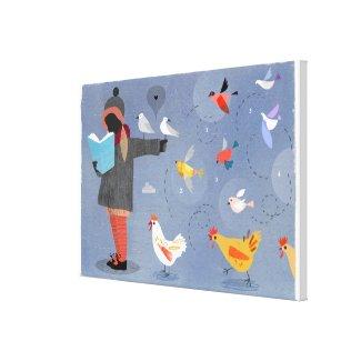 Bird Feeder - Canvas Print