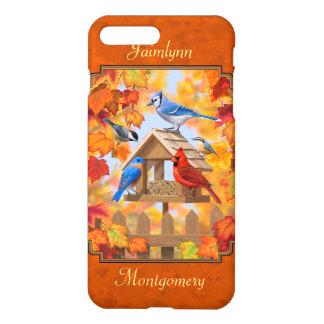 Bird Feeder Gathering Autumn Orange iPhone 7 Plus Case