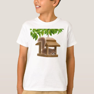 Bird Feeder Squirrel  Kids T-Shirt