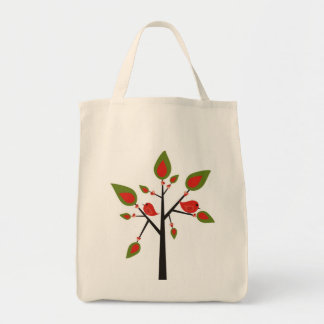 Bird Feeding Tree Huggers Tote Bag