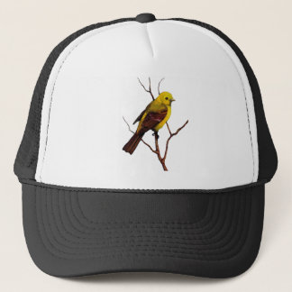 Bird: Female Western Tanager: Original Art Trucker Hat