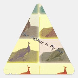 Bird Fever Triangle Sticker