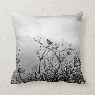 Bird flies already throw pillow