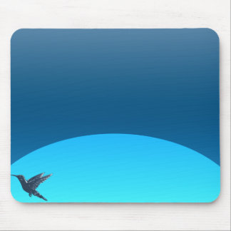 Bird flight at moon light mouse pad