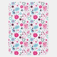 Bird & Floral Baby Blanket