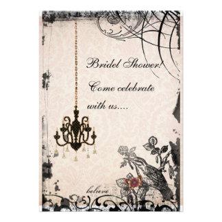 Bird Flower Bridal Shower Invitations
