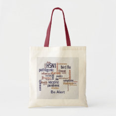 Bird Flu Awareness Canvas Crafts & Shopping Bag at Zazzle