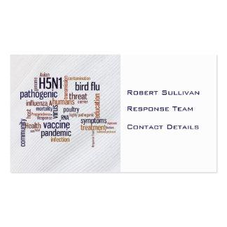 Bird Flu Awareness Contact Business Card Bookmark