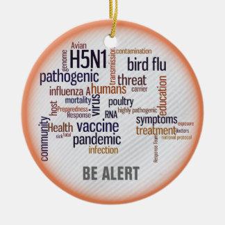 Bird Flu Awareness Hanging Ornament