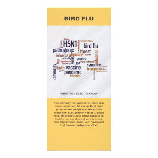 Bird Flu Awareness Word Cloud Information Template Rack Card