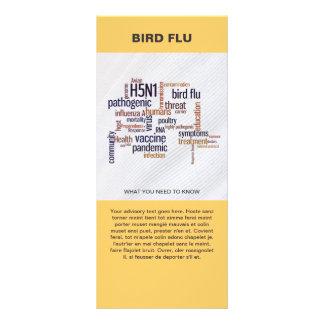 Bird Flu Awareness Word Cloud Information Template Customized Rack Card