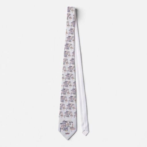 Bird Flu Awareness Words On Feather Necktie