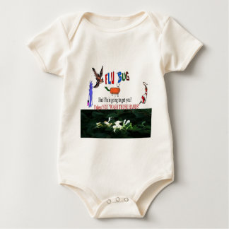 Bird Flu Warning Baby Bodysuit