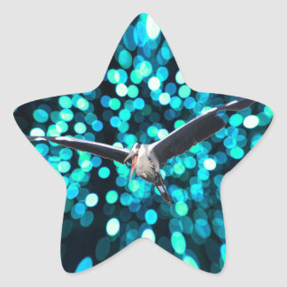 Bird Fly at the space Star Sticker