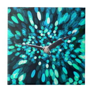 Bird Fly at the space Ceramic Tiles