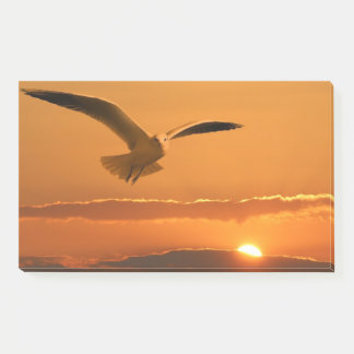 Bird Flying At Sunset Post-it Notes