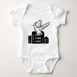 Bird flying by factory baby bodysuit