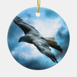Bird Flying Ceramic Ornament